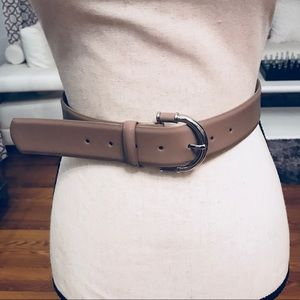 Style & Co Wide Brown Leather Belt